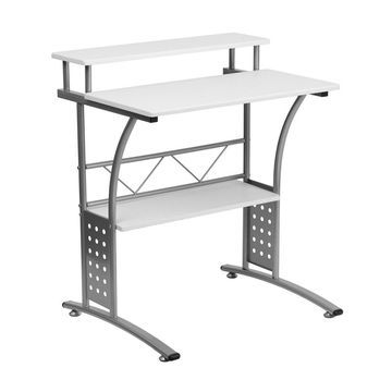 Offex Clifton White Computer Desk