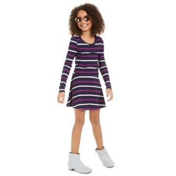 Epic Threads Big Girls Striped Long-Sleeve Top & Skirt Set, Created For Macy's
