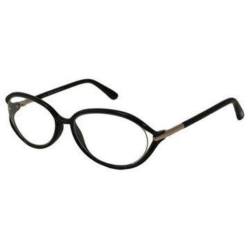 Tom Ford Womens Eyeglasses FT5212-001 Oval Black Full Rim Frames