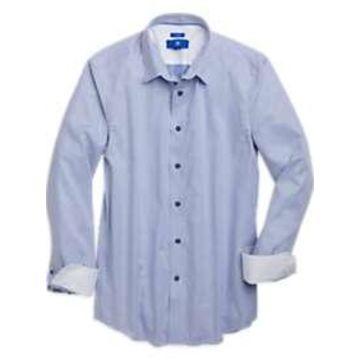 Egara Blue Houndstooth Sport Shirt