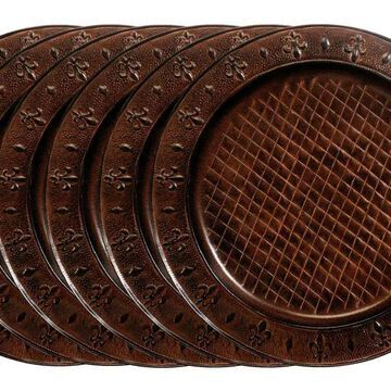 Old Dutch 13-in Versailles Charger Plates, Set of 6 in Copper   OS737