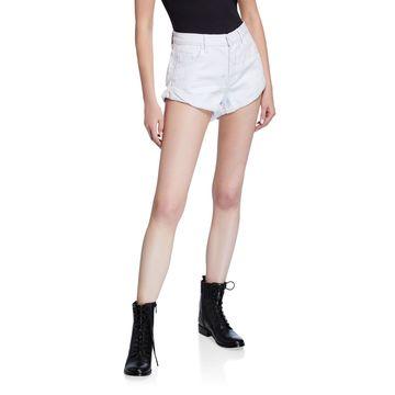 Bandits Distressed Rigid Double-Cuff Denim Shorts
