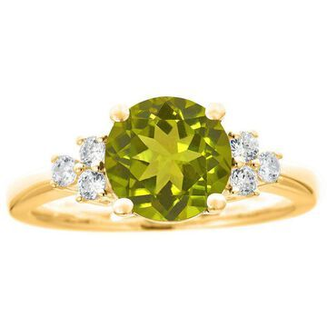 Premier 1.65cttw Round Peridot & Diamond Ring,14K