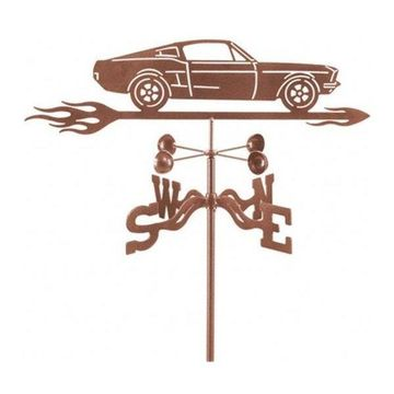 EZ Vane Mustang Car Weathervane With Roof Mount