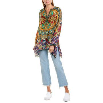 Johnny Was Womens Silk Tunic