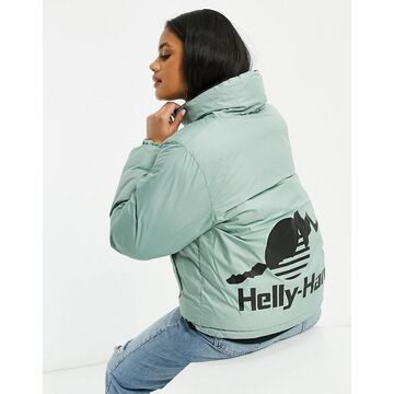 Helly Hansen YU reversible cropped puffer jacket in black