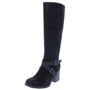 B.O.C. Womens Dakota Suede Stacked Heel Riding Boots