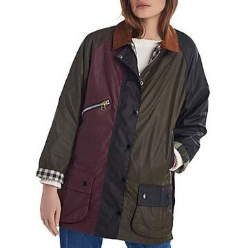 Barbour by Alexachung Patched Waxed Cotton Jacket