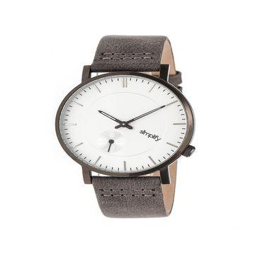 Simplify Unisex Gray Strap Watch-Sim3602