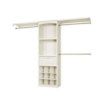allen + roth 8-ft W x 6.83-ft H Antique White Wood Closet Kit