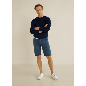 MANGO MAN - Color bermuda shorts dark navy - 30 - Men
