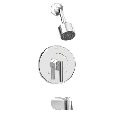 Symmons Dia Polished Chrome 1-Handle Bathtub and Shower Faucet (Valve Not Included) Stainless Steel | 3502-CYL-1.5-TRM