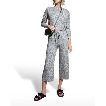 Wide-Leg Cropped Sweatpants