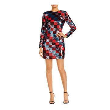 ESCADA Red Long Sleeve Short Dress 34