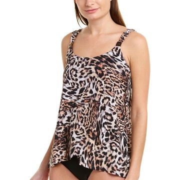 Miraclesuit Womens Sublime Feline Dazzle Tankini Top