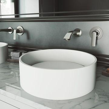VIGO Anvil Matte StoneTM Vessel Bathroom Sink