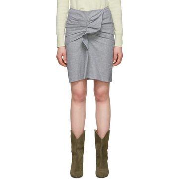 Isabel Marant Etoile Black and White Linen Ines Skirt