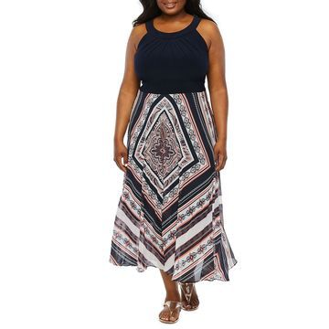 Studio 1 Sleeveless Maxi Dress-Plus