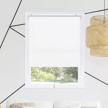 Chicology Snap-N-Glide Cordless Roller Shades, White, 52X72