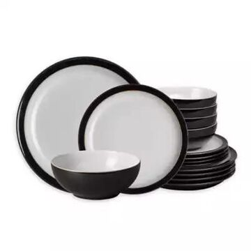 Denby Elements 12-Piece Dinnerware Set in Black