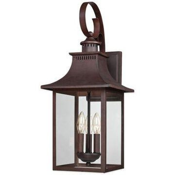 Quoizel Chancellor 23.5-Inch Outdoor Wall Lantern in Copper Bronze