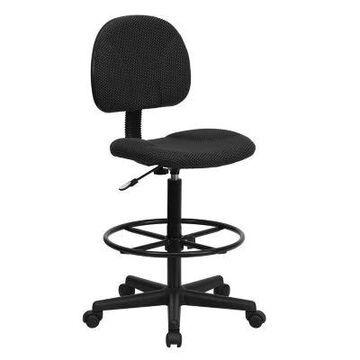 Flash Furniture Ergonomic Drafting Chair in Black