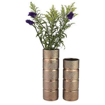 Dimond Home Banded Texture Ceramic Vase