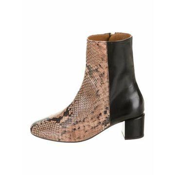 Snakeskin Colorblock Pattern Boots