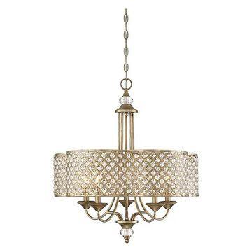 Savoy House Regis 5-Light Chandelier, Pyrite