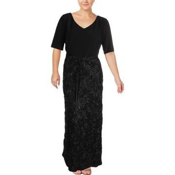 Alex Evenings Womens Plus A-Line Special Occasion Evening Dress