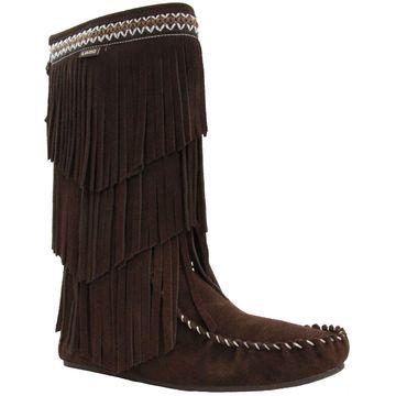 Lamo Suede Fringe Boots - Virginia