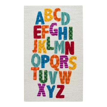 Rizzy Home Playday Alphabet Wool Area Rug - 3' x 5', Multicolor, 3X5 Ft