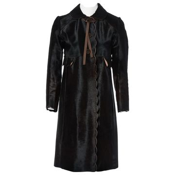 Anya Hindmarch Brown Suede Coats