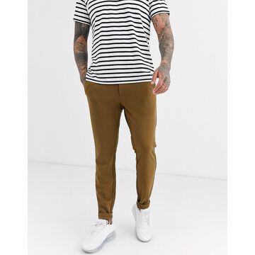 Only & Sons slim tapered fit pants in dark sand-Tan