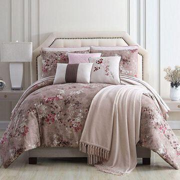 Pacific Coast 10 Piece Comforter/Coverlet Set - Paragon, Pink, Queen
