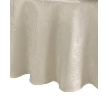 Elrene Poinsettia Elegance Jacquard Holiday Tablecloth - 90