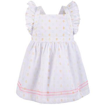 Baby Girls Dot-Print Pinafore Dress, Created for Macy's