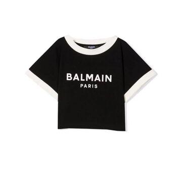 Balmain T-shirt With Crop Print