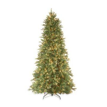 National Tree Company 7.5-Foot Tiffany Fir Feel-Real Slim Christmas Tree with Clear Lights
