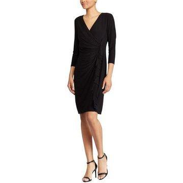 American Living Womens Ruffled Jersey Dress