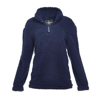 Boxercraft Pullover Sweaters NAV - Navy Sherpa Pullover - Adult