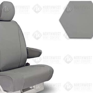 NorthWest WorkPro Hygienic Vinyl Seat Covers, 1st-Row Seat Covers in Grey, FF0