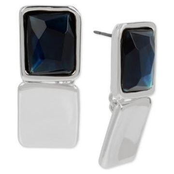 Robert Lee Morris Soho Silver-Tone Stone Geometric Link Drop Earrings