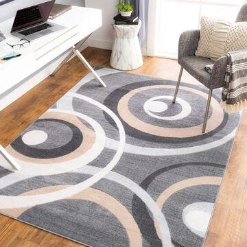 "Art of Knot Aliviar Gray 7'10"" x 10' Modern Abstract Area Rug"