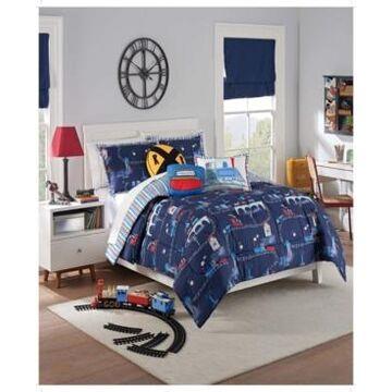 Waverly Kids All Aboard Reversible Twin Comforter Set, 2 Piece Bedding