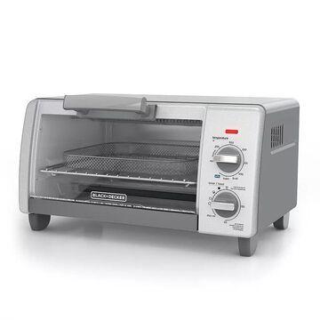 Black & Decker Crisp 'N Bake Air Fry 4-Slice Toaster Oven, Silver