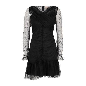 See You black tulle mini dress