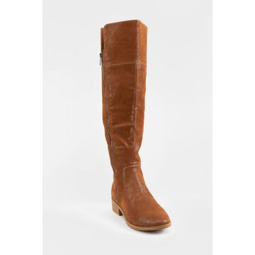 MIA Carsyn Side Zip Riding Boots - Cognac