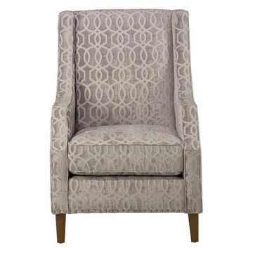 Jofran Quinn Accent Chair, Dove Gray