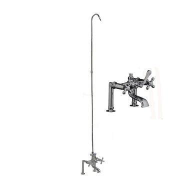 Barclay Polished Chrome 3-Handle Bathtub and Shower Faucet with Valve   4045-MC-CP